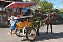 One of the many horse carts in T. (They're called bendi's)