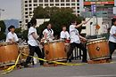Awesome Taiko drums near the finish line.