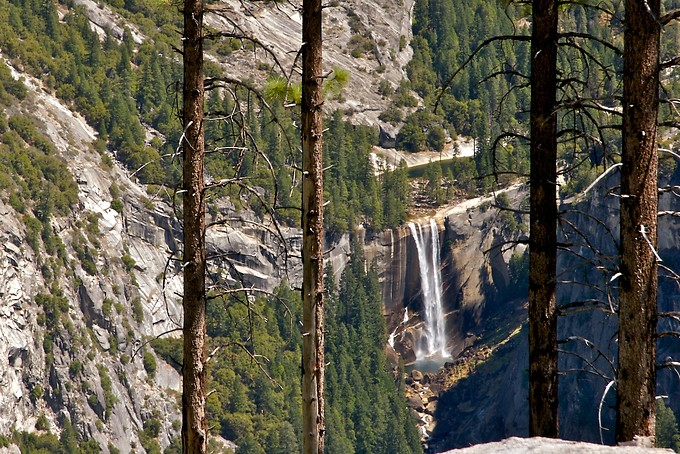 Vernal Falls, from the other side of the canyon.
