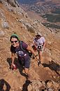Katie & Brooke climbing Mt. Arbel, a local mountain where Jesus probably retreated to pray.