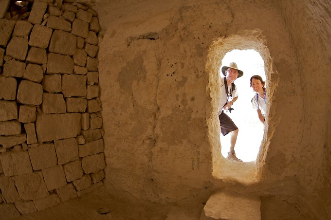 Phil & Denise at Tel Avdat, which was a Nabatean wine city and a place of refuge along a major spice route.