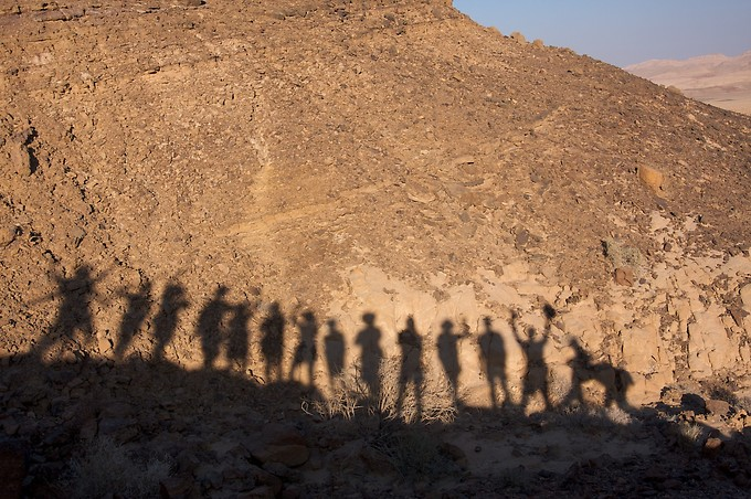 Group silhouette.  Notice the camel silhouette on the right.