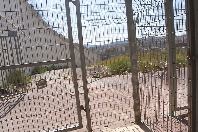 Border at Bethlehem (Palestinian controlled).