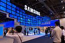 Samsung's booth was one of the most impressive.