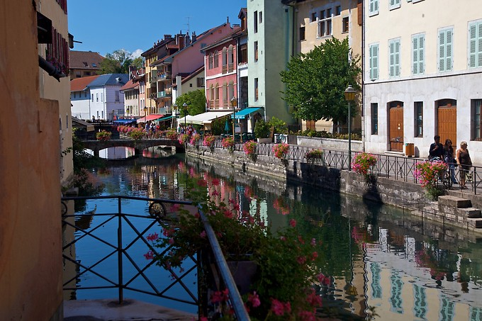 This is Old Annecy, also known as the Venice of France. It has several canals going through the town, like Venice, but we've heard it's generally cleaner (and the water is from the lake, not the ocean).