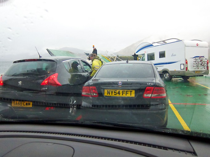Two of the 3 ferries admitted cars; the final one was on foot only.