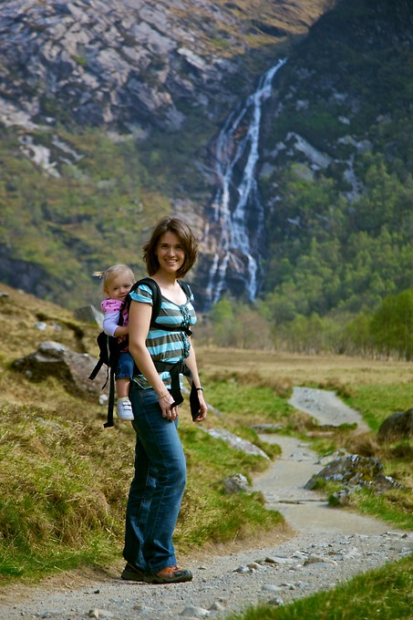 We hiked to the base of Steall Falls, one of the 3 highest waterfalls in Scotland.