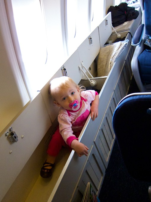 On board, there was plenty of room for our stuff. Or... our child.