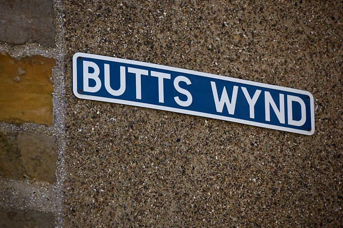 This is the name of a real street in St. Andrews.