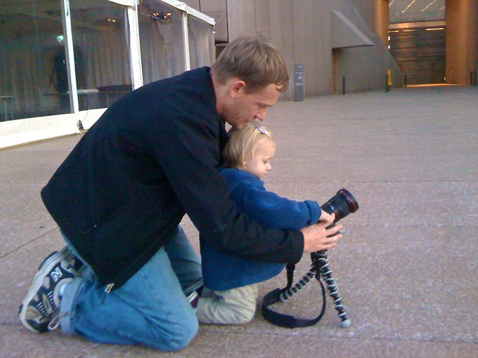 Young photographer-in-training.