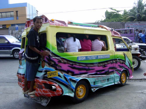 A Jeepney Common Form Of Public Transportation Which Is Convenient And Thriving In